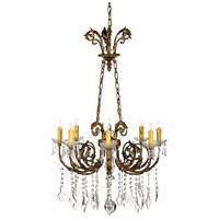 WM 6 Light Crystal Drops And Prisms Chandelier Ceiling Light