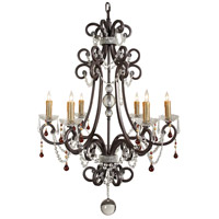 Wildwood Lamps Signature Chandelier in Iron With Crystal Bobesche And Roping 9361 photo thumbnail