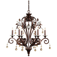 WM 6 Light 28 inch Antique Iron Chandelier Ceiling Light