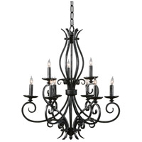 Wildwood Lamps Signature Chandelier in Antique Glazed Iron 9365