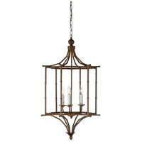Wildwood Lamps Lantern Of Bamboo Hanging Lantern in Hand Glazed Iron 9369