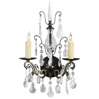 Wildwood Lamps Signature Sconce in Iron And Crystal 9377