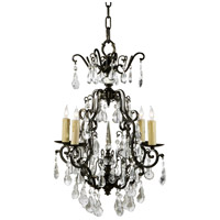 Wildwood Lamps Signature Chandelier in Iron And Crystal 9378 photo thumbnail