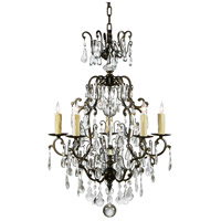 Wildwood Lamps Signature Chandelier in Bronzed Iron And Crystal 9379