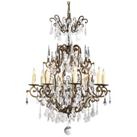 Wildwood Lamps Signature Chandelier in Iron With Crystal 9381