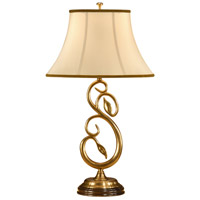 Graceful 29 inch 100 watt Antique Brass Table Lamp Portable Light