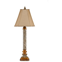 Finely Twisted Iron 38 inch 100 watt Iron Table Lamp Portable Light
