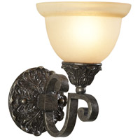 Casual 1 Light 7 inch Iron With Pewter Sconce Wall Light