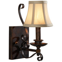 Wildwood Lamps Signature Sconce in Old Bronze Finish On Iron 9417