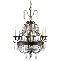 Wildwood Lamps Prisms On Bronze Chandelier 9433