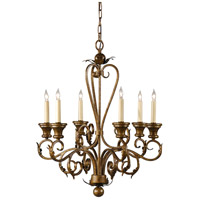 Wildwood Lamps Iron Chandelier in Antique Spackling Finish Six Lights 9435