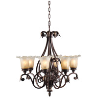 Wildwood Lamps Glass And Iron Chandelier 9438