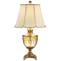 Wildwood Lamps Fluted Cuts Table Lamp in Antique Patina On Cast Brass 9442