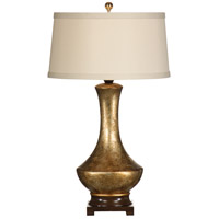 Golden 34 inch 100 watt Antique Crackle Gold Table Lamp Portable Light