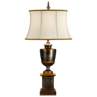 Wildwood Lamps Worn Green Urn Table Lamp in Burnished Gold Accents 9462