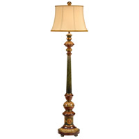 Wildwood Lamps Carved Floor Lamp in Hand Colored 9463