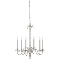 Wildwood Lamps Silver Bamboo Chandelier in Satin Nickel Finish 9476