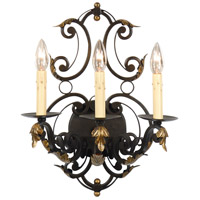 Wildwood Lamps Iron With Leaves Sconce 9485