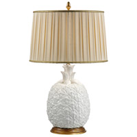 Blanc Pineapple 31 inch 100 watt Milk Glazed Ceramic Table Lamp Portable Light