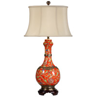 Wildwood Lamps Swirly Bottle Table Lamp in Hand Painted Porcelain 9507