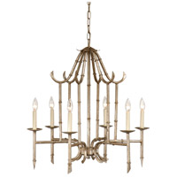 Wildwood Lamps Bamboo Chandelier in Antique Silver 9614