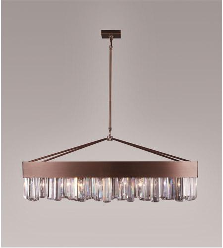 Zeev lighting cuspis 8 light chandelier in brushed copper cd100798acp aloadofball Gallery