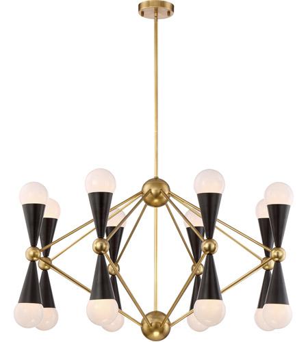 Zeev lighting cd1017016agbmbk crosby 16 light 36 inch aged brass zeev lighting cd1017016agbmbk crosby 16 light 36 inch aged brass and matte black chandelier ceiling light aloadofball Images