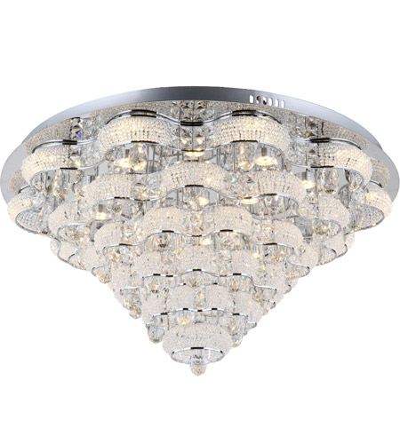 Zeev Lighting FM60023/LED/CH Imperial LED 31 inch Chrome Flush Mount Ceiling Light photo