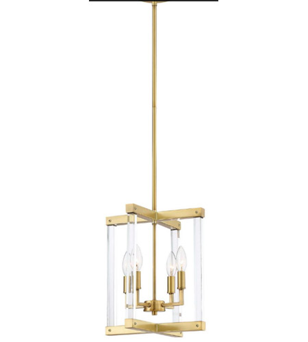 Regent 4 Light 12 Inch Polished Br With Acrylic Pendant Ceiling