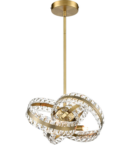 Zeev Lighting P30095/4/AGB Knot 4 Light 13 inch Aged Brass Pendant Ceiling Light photo thumbnail