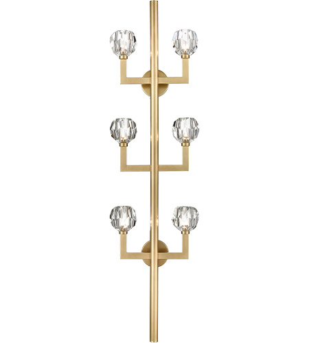 Zeev Lighting WS70039/6/AGB Parisian 6 Light 7 inch Aged brass Wall Sconce Wall Light photo thumbnail