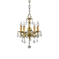 Zeev Lighting Austin 3 Light Mini Chandelier in French Gold 108-5FG