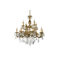 Santos 3 Light 32 inch Antique Brass Chandelier Ceiling Light