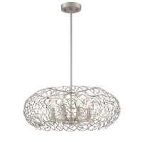Helios 8 Light 22 inch Satin Nickel Chandelier Ceiling Light