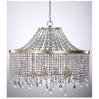 Palais 10 Light Silver Leaf Chandelier Ceiling Light