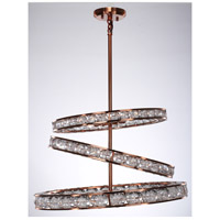 Imbrium 12 Light Brushed Copper Chandelier Ceiling Light