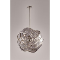 Una 8 Light Polished Nickel Chandelier Ceiling Light