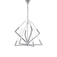Matrix 8 Light 28 inch Chrome Chandelier Ceiling Light