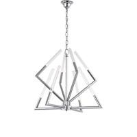 Zeev Lighting CD10092/8/CH Matrix 8 Light 28 inch Chrome Chandelier Ceiling Light