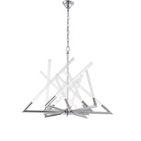 Zeev Lighting CD10093/12/CH Matrix 12 Light 35 inch Chrome Chandelier Ceiling Light