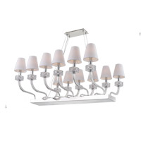 Abigail 12 Light 35 inch Chrome Chandelier Ceiling Light
