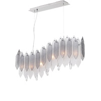 Zeev Lighting CD10096/6/CH-SMF Stratus 6 Light 7 inch Chrome Frame Smoke and Frosted Glass Chandelier Ceiling Light