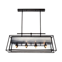 Zeev Lighting CD10100/12/RI-SL Occasus 12 Light 17 inch Rustic Iron Chandelier Ceiling Light