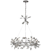 Zeev Lighting CD10101/6/SL-CL Misthaven 6 Light 32 inch Silver Leaf with Clear Crystal Chandelier Ceiling Light