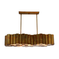 Honeycomb 7 Light 15 inch Honeycomb Gold Chandelier Ceiling Light