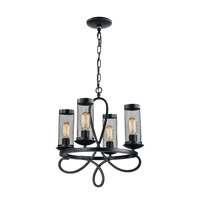 Kenosha 4 Light 18 inch Rustic Black Chandelier Ceiling Light