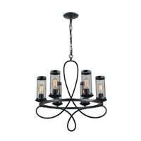 Kenosha 6 Light 23 inch Rustic Black Chandelier Ceiling Light