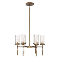 Triticus 6 Light 26 inch Antique Brass Chandelier Ceiling Light