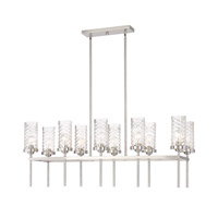 Zeev Lighting CD10119/10/BN Triticus 10 Light 15 inch Brushed Nickel Chandelier Ceiling Light
