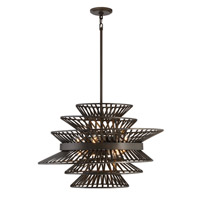 Kai 8 Light 28 inch Oil Rubbed Bronze Chandelier Ceiling Light